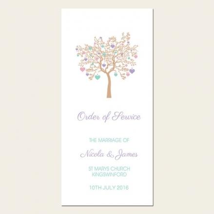 Love Tree - Order of Service Concertina