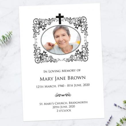 Funeral-Order-of-Service-Ornate-Scrolls-&-Butterflies