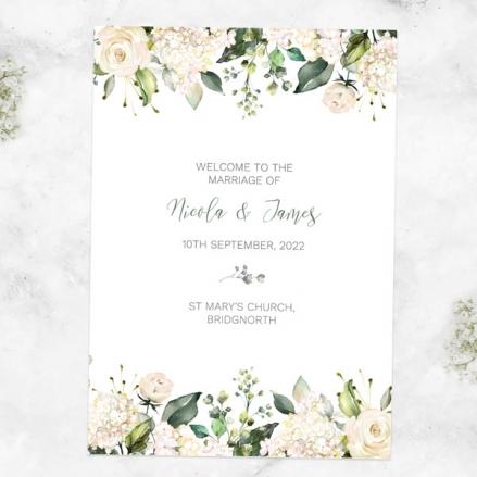white-flower-garland-wedding-order-of-service
