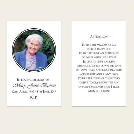 Funeral Memorial Cards - Ornate Border