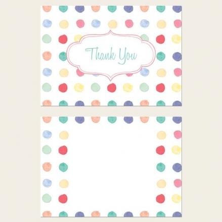 Ready to Write Thank You Cards - Painted Polka Dots