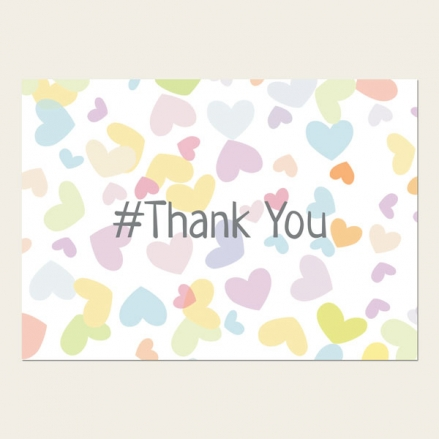 Ready to Write Thank You Cards - Pastel Hearts