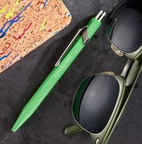 personalised-caran-dache-ballpoint-pen-green