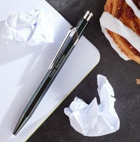 personalised-caran-dache-ballpoint-pen-black