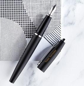 personalised-cross-fountain-pen-black