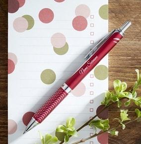 personalised-pentel-rollerball-pen-red