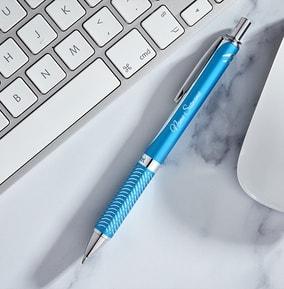 personalised-pentel-rollerball-pen-sky-blue