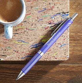 personalised-pentel-rollerball-pen-violet