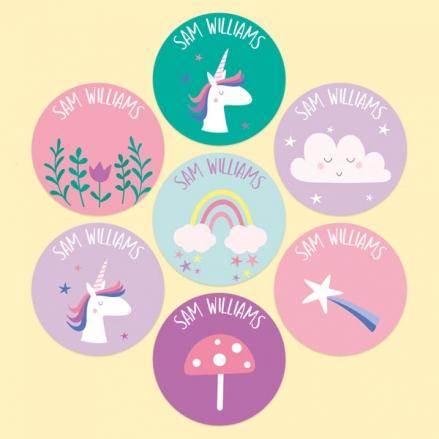 Unicorn-Magic-Personalised-Kids-Stickers-Pack-of-35