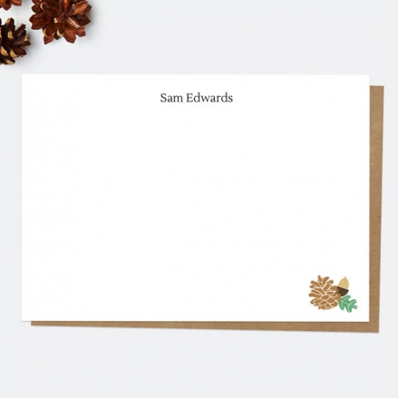 woodland-pinecone-personalised-a6-note-card