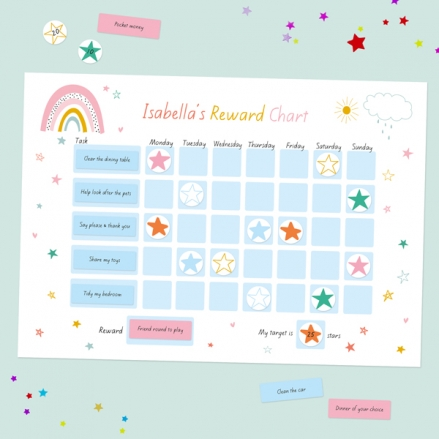 Chasing-Rainbows-Personalised-Reward-Chart-&-Reusable-Stickers