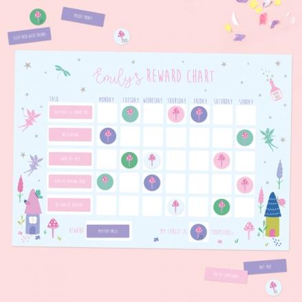 Fairy-Garden-Personalised-Reward-Chart-&-Stickers