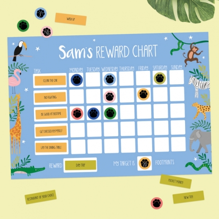 Go-Wild-Personalised-Reward-Chart-&-Reusable-Stickers
