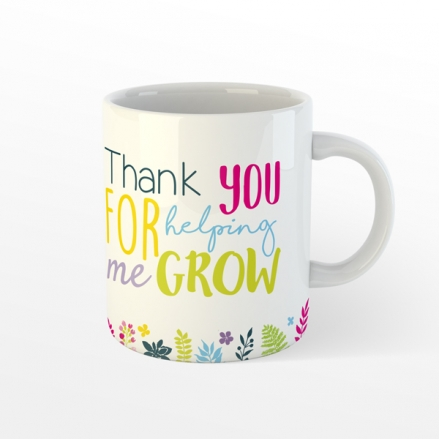 Personalised Teacher Mug - Helping Me Grow