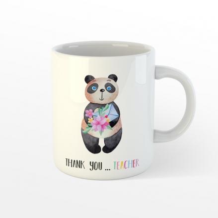 Personalised Teacher Mug - Little Panda