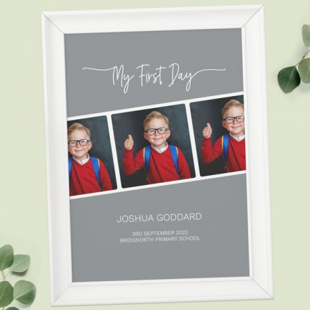 Personalised My First Day Print - Photo Reel