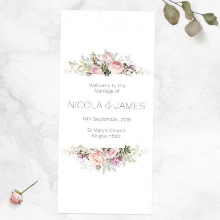 pink-roses-greenery-order-of-service-concertina