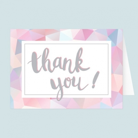 Ready to Write Thank You Cards - Pink Geometric