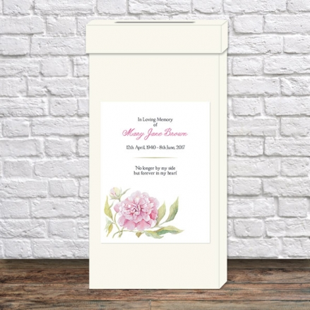 Funeral Post Box - Pink Peony