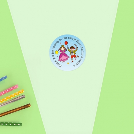 Pirate and Princess Ship - Sweet Cone Bag & Sticker - Pack of 35