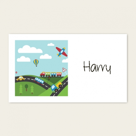 Planes, Trains & Automobiles - Party Sticker - Pack of 10