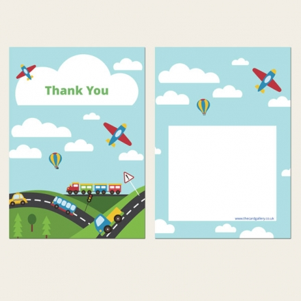 Ready to Write Kids Thank You Cards - Planes, Trains & Automobiles