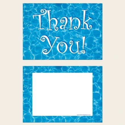 Ready to Write Kids Thank You Cards - Swimming Pool Party