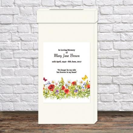 Funeral Post Box - Poppies & Butterflies