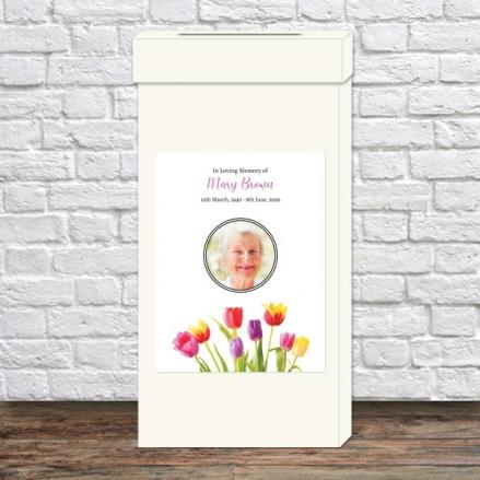 Funeral-Post-Box-Bright-Tulips-Photo