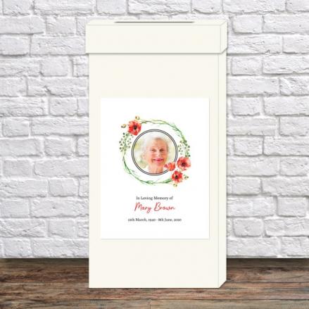 Funeral-Post-Box-Poppy-Garland-Photo