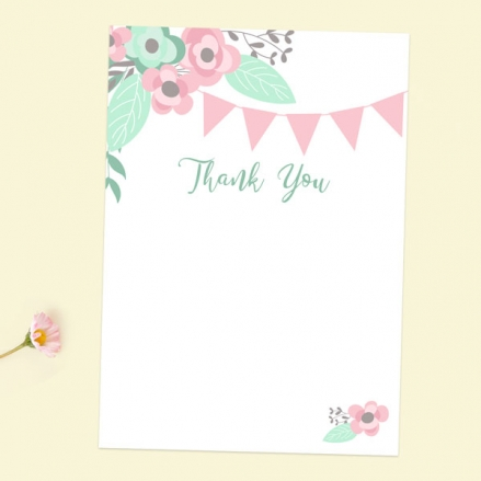 Thank You Cards - Pretty Pastel Party - Pack of 10