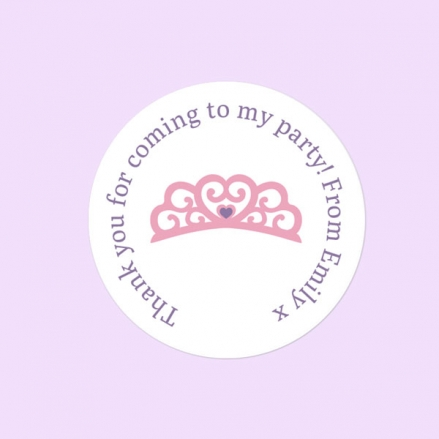 Princess Pamper Party - Sweet Bag Stickers - Pack of 35