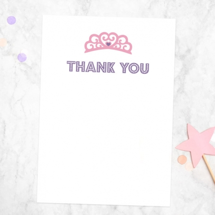 Ready to Write Thank You Cards - Princess Pamper Party