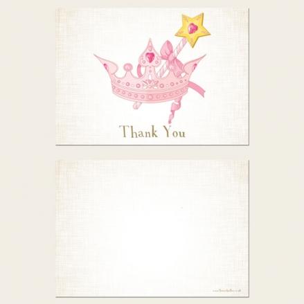 Ready to Write Kids Thank You Cards - Princess Tiara