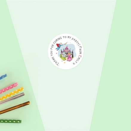 Princess and Superhero Party - Sweet Cone Bag & Sticker - Pack of 35
