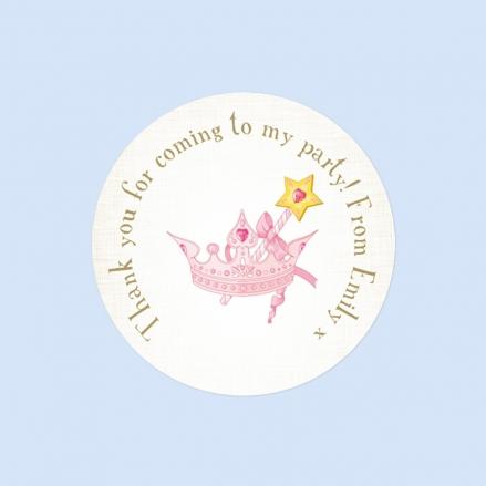 Princess Tiara - Sweet Cone Stickers - Pack of 35