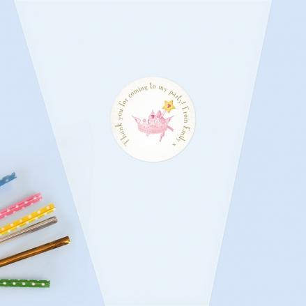 Princess Tiara - Sweet Cone Bag & Sticker - Pack of 35