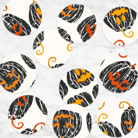 Pumpkin Trio - Halloween Table Confetti