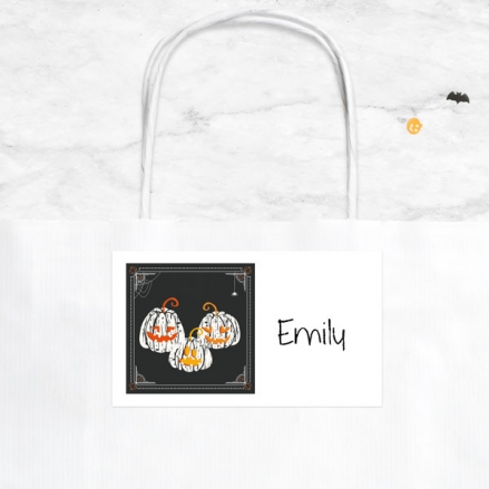 Pumpkin Trio - Halloween Party Bag & Sticker - Pack of 10