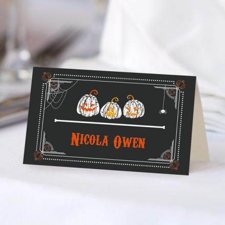 Pumpkin Trio - Halloween Place Cards