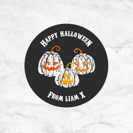 Pumpkin Trio - Halloween Sweet Cone Stickers - Pack of 35