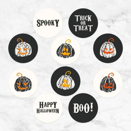 Pumpkin Trio - Halloween Stickers - Pack of 70