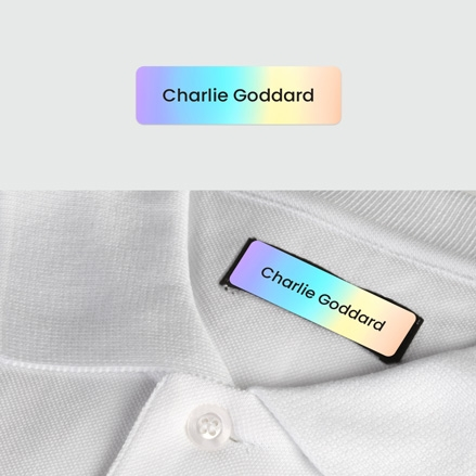 No Iron Small Personalised Stick On Waterproof (Clothing) Name Labels Rainbow Ombre Mixed Pack of 60 thumbnail
