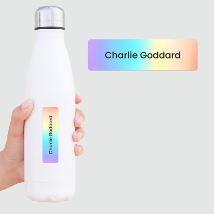 Medium Personalised Stick On Waterproof (Equipment) Name Labels Rainbow Ombre Mixed Pack of 42 thumbnail