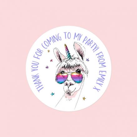 Rainbow Llamacorn - Sweet Cone Stickers - Pack of 35