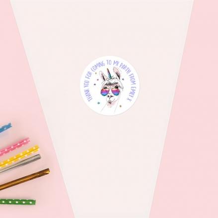 Rainbow Llamacorn - Sweet Cone Bag & Sticker - Pack of 35