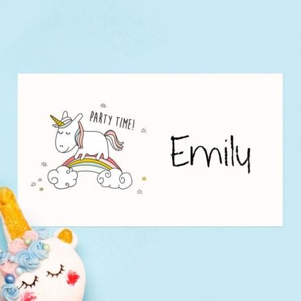 Rainbow Unicorn - Party Sticker - Pack of 10