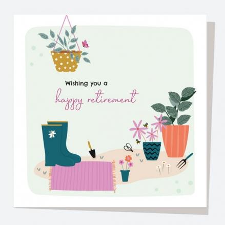 Retirement Card - Pretty Wildflowers - Garden - Retirement