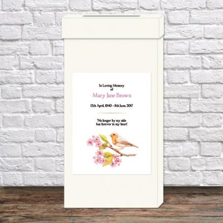 Funeral Post Box - Robin & Blossom