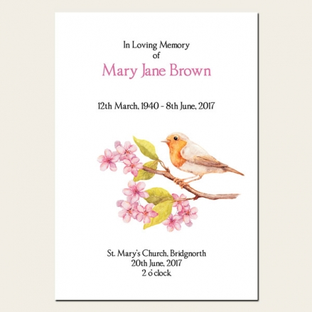 Funeral Order of Service - Robin & Blossom